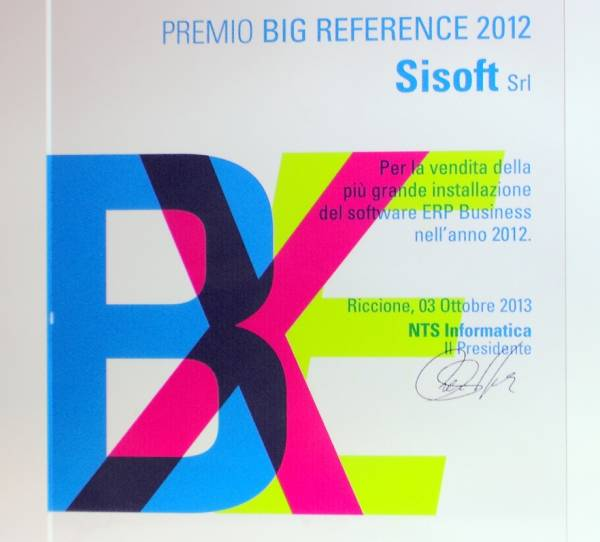 Premio big reference 2012 partner meeting nts business net