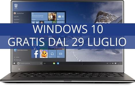 Windows 10 gratis dal 29 luglio 2015