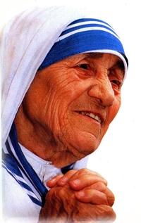 Madre Teresa di Calcutta, al secolo Anjeza Gonxha Bojaxhiu (pron. aŋɛzə gɔnʤa bɔjadʒi:u, it. Agnesa Gongia Boiagiu; Skopje, 26 agosto 1910 - Calcutta, 5 settembre 1997), è stata una religiosa e beata albanese, di fede cattolica, fondatrice della congregazione religiosa delle Missionarie della Carità. Il suo lavoro tra le vittime della povertà di Calcutta l´ha resa una delle persone più famose al mondo. Ha ricevuto il Premio Nobel per la Pace nel 1979, e il 19 ottobre 2003 è stata proclamata beata da Papa Giovanni Paolo II.