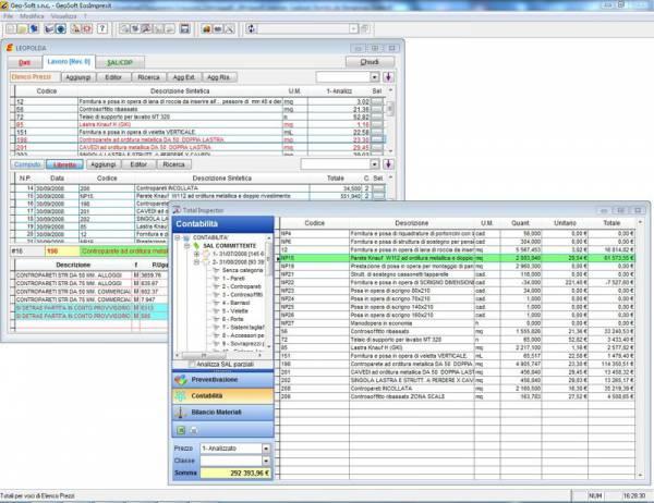 Costi di cantiere gestione impresa edile Totali di contabilità